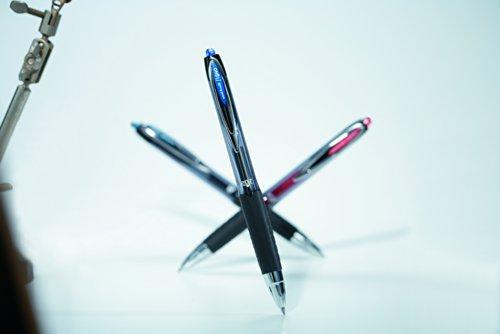 Uni-ball Signo RT UMN-207 - Set de bolígrafos de punta redonda (12 unidades), color negro