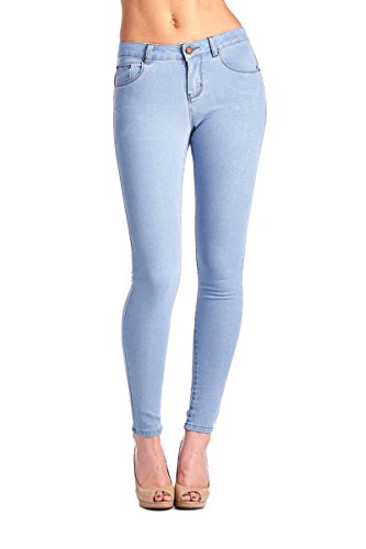 BLUE AGE Women's Light Blue Butt-Lifting Skinny Jeans, 9 (Light Blue Skinny compare prices)