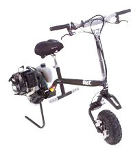 Go-Ped Riot Gas Powered Full Suspension Off Road Scooter (Sinister Black)