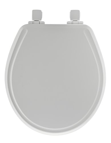 Mayfair 48SLOWA 000 Slow-Close Molded Wood Toilet Seat featuring Whisper-Close, Easy Clean & Change Hinges and STA-TITE Seat Fastening System, Round, White (Home Depot Toilet Seat Standard compare prices)