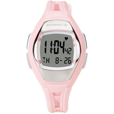 Sportline Solo 925W Women's Heart Rate Monitor + Pedometer Watch (Pink)