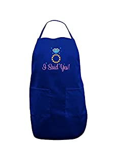 buy Tooloud I Said Yes - Diamond Ring - Color Dark Adult Apron - Royal Blue - One-Size