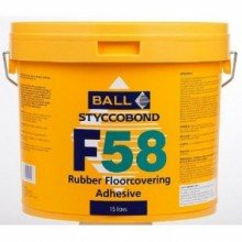 F Ball F58 Rubber Floorcovering Adhesive 15ltr