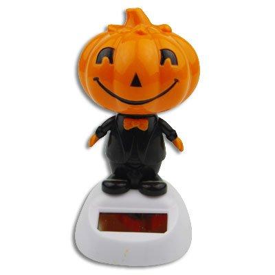 Solar Bobblehead Toy Figure - Dancing Jack-O-Lantern by DIYJewelryDepot