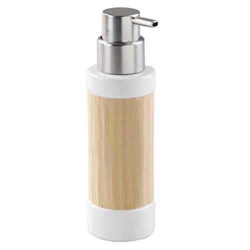 interdesign-realwood-pompa-dispenser-di-sapone-in-ceramica-per-cucina-bagno-bianco-finitura-legno-ch