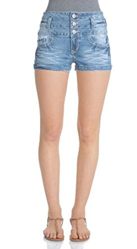 WallFlower Juniors High Rise Denim Shorts