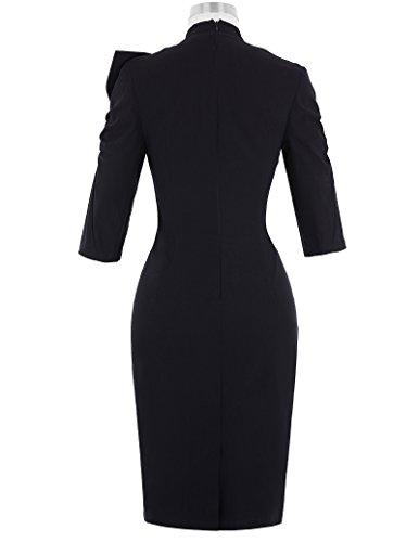 Belle Poque Women 50s Bodycon Dress Slim Vintage Pencil Dress BP106/146 1