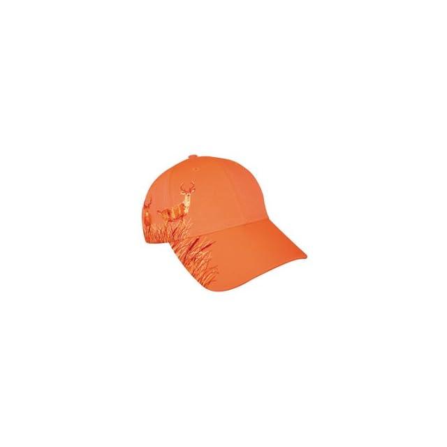 Blaze Orange Deer Hunting Hat With Buck Design on PopScreen ee4d19d23