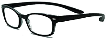 Rubber Neckin' II Lightweight Reading Glasses With Convenient Neck Hanging Flexible Frame/black/2.00