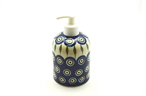 Polish Pottery Soap/Lotion Dispenser - Peacock (Polish Pottery House compare prices)