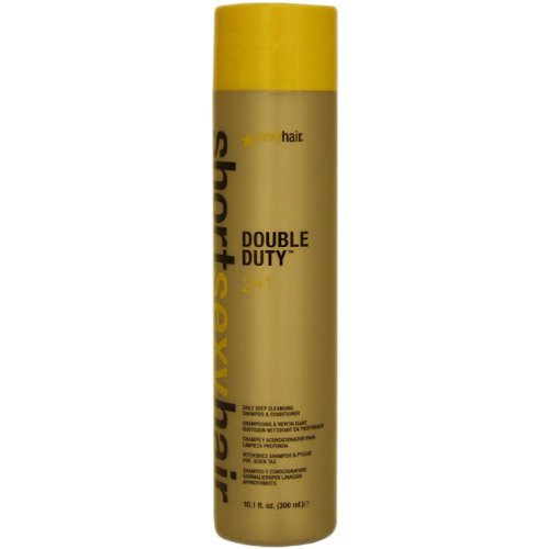Sexy Hair Short Sexy Hair Double Duty 2 In 1 Shampoo and Conditioner, 10.1 Ounce