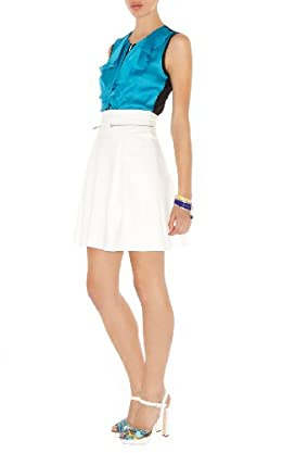 Colorblock Frill Top