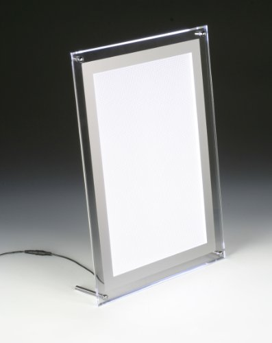 Displays2Go Illuminated Picture Frame For 11 X 11 Inches Photos, Tabletop Or Wall - Clear Acrylic (Apflp1117)