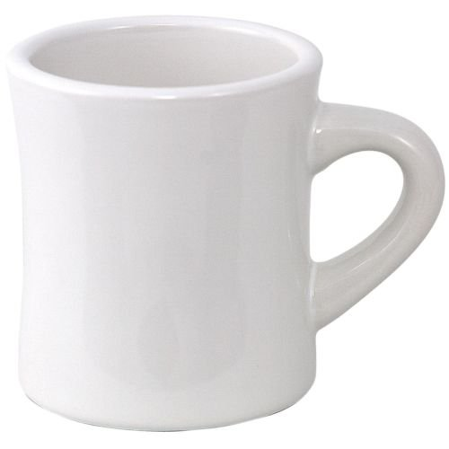 White Coffee Mug Bulk Set of 4. These 8 Oz White