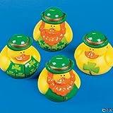 One Dozen (12) Irish St. Patrick's Day Rubber Ducks