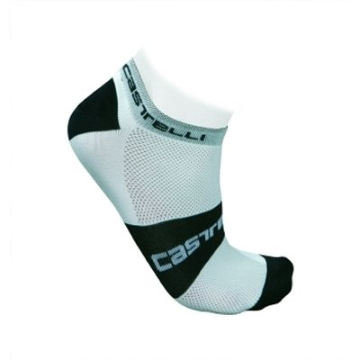 Buy Low Price Castelli 2012 Lowboy Cycling Sock – White/Black – R7069-001 (B000WMYEI0)