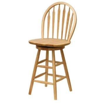 Winsome Wood 30 Inch Windsor Swivel Seat Bar Stool Natural