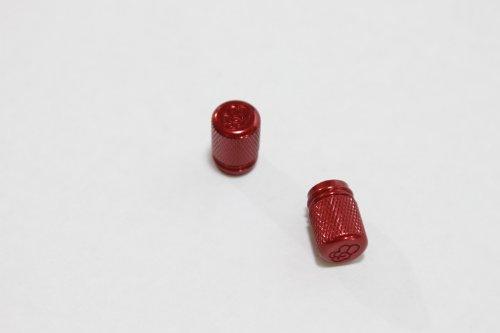 Valve Caps - Grippy - Red CNC Aluminum - HONDA CBR 600, F2, F3, F4, F4i RR, SUZUKI GSXR 600, 750, 1000, 1300, YAMAHA R6, R1, Ninja 250, 500, ZX6R, ZX6RR, ZX7R, ZX7RR, ZX9R, ZX10R, ZX12R, ZX14