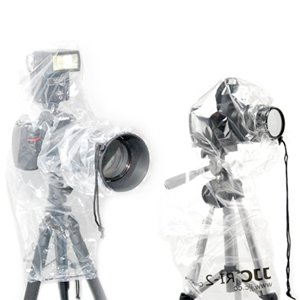 JJC RI-4 Rain Protection Cover for SLR / Digital SLR Cameras (One cover for use without external flash & one with)
