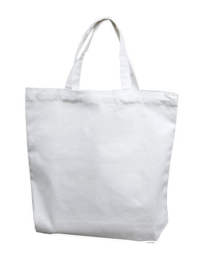 Medium white tote bag 14x13x3 100 cotton canvas pack for Arts and crafts tote bags