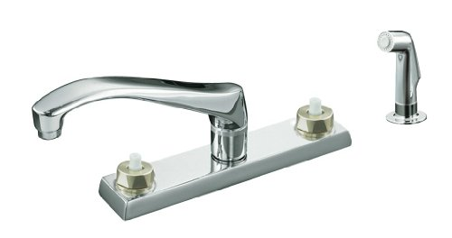 KOHLER K-7827-K-CP Triton Kitchen Sink Faucet, Polished Chrome (Handles Not Included)