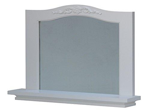 White Bedroom Vanity With Mirror front-63647