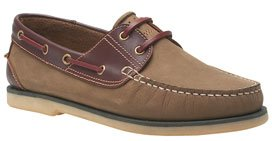 Nubuck Two Tone Moccasin Boat shoe