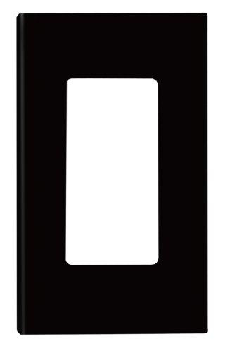 Leviton 80301-Se 1-Gang Decora Plus Wallplate Screwless Snap-On Mount, Black
