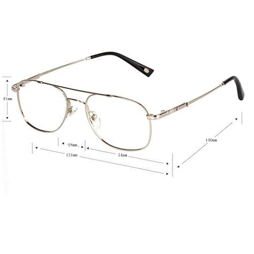 Liansan Brand Designer High Quality Retro Vintage Bifocal Reading Glasses Mens Eyeglasses L3695T(silver,+2.50) 5