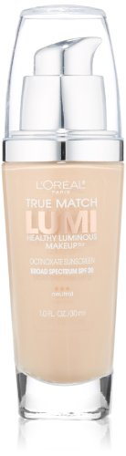 L'Oreal Paris discount duty free L'Oreal Paris True Match Lumi Healthy Luminous Makeup, Soft Ivory/Classic Ivory, 1.0 Ounces