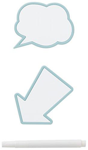 Like-it メッセージクリップ 2個セット マーカーペン1本付き ライトブルー MCL-0011