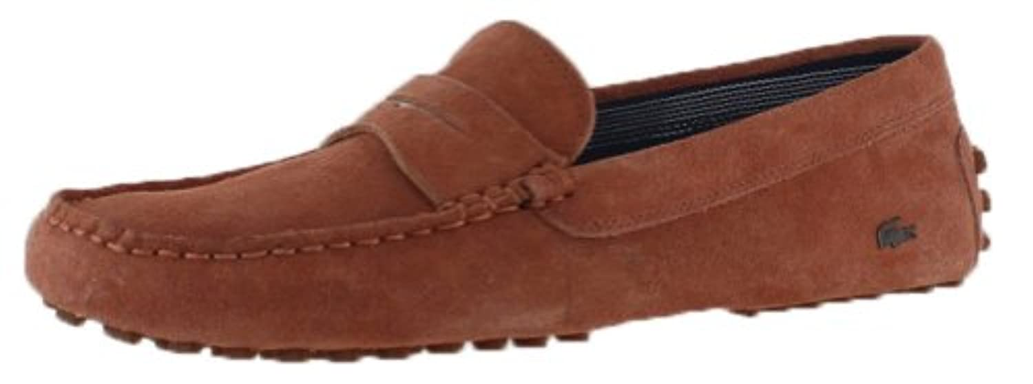 e72a875249ca Size 13 Shoes Lacoste 11 Concours Red Suede Men s Moccasins Driving AqH8xw5H