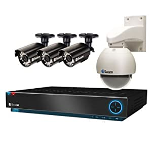 Swann 8 Channel D1 Real-time Security System with 500gb Hard Drive and 1 High Resolution Outdoor Pan/tilt 3 High Resolution Cameras