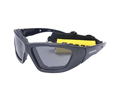 IOceanGlasses - Biarritz -occhiali da sole polarizzati - Montatura : Nero Brillante - Lenti : Fumé (17600.1)