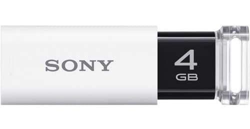 ソニー USB3.0対応 ノックスライド式USBメモリー ポケットビット 4GB ホワイト キャップレス USM4GU W