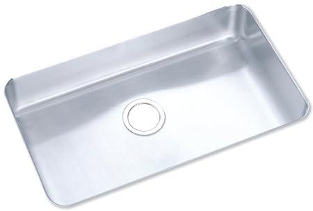 Elkay ELU2816 Gourmet Lustertone Undermount Sink, Stainless Steel