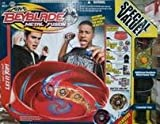 31KN5gNku4L. SL160  Hasbro Beyblades Metal Fusion Beystadium: Super Vortex Battle Set  4 TOPS WITH STADIUM, 2 LAUNCHERS, 4 COLLECTOR CARDS, RULE BOOK & 24 TOURNAMENT BRACKETS