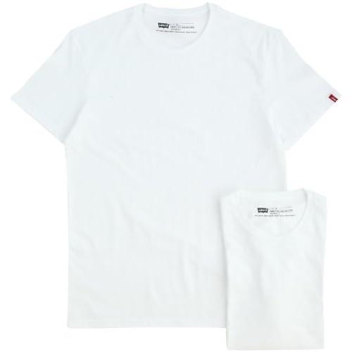 (リーバイス)Levi's CREWNECK 2 PACK TEE(スタンダード クルーネック 2パックティ ホワイト) 66547-0001  WHITE/WHITE S