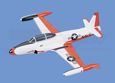 T-33   Shooting Star – Navy Aircraft Model Mahogany Display Model / Toy. Scale: 1/29