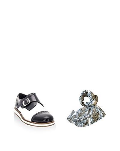 Ortiz&Reed Zapatos monkstrap + Fular SET-ZMP4-BU22 Blanco