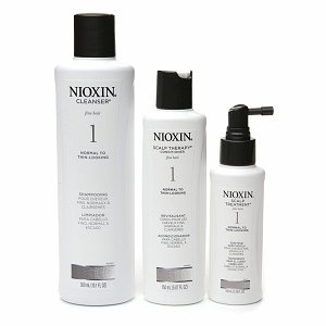 Nioxin System 1 Hair System Kit (Normal To Thin-Looking) With Cleanser 10.1 Oz & Scalp Therapy 5.07 Oz & Scalp Treatment 3.38 Oz