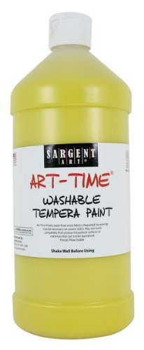 Sargent Art 22-3502 32-Ounce Art Time Washable Tempera, Yellow - 1
