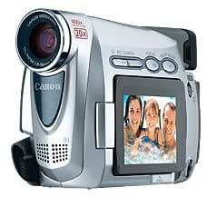 Canon ZR100 MiniDV Camcorder w/20x Optical Zoom (Pearl Silver)