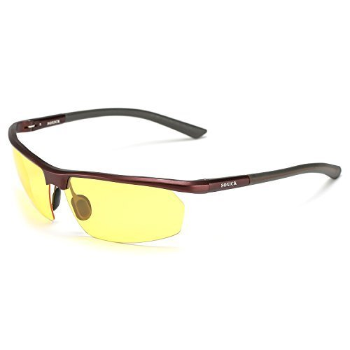 Soxicka HD Metal Night Driving Polarized Semi Rimless ...