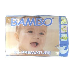 BAMBO® Baby Diapers - Size 0 - Premature - Fits 2.2 to 6.6 lbs - 24 Count (Pack of 1) - 1