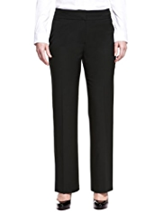 M&S Collection Straight Leg Trousers with New Wool