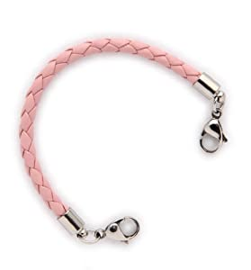 Amazon.com: Medical Alert ID Pink Bolo Leather Replacement Bracelet