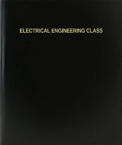 "Bookfactory® Electrical Engineering Class Log Book / Journal / Logbook - 120 Page, 8.5""X11"", Black Hardbound (Xlog-120-7Cs-A-L-Black(Electrical Engineering Class Log Book))"