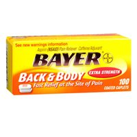 Bayer Bayer Asprin Extra Strength Back & Body Pain Reliever, 100 tabs (Pack of 3) (Bayer Extra Strength compare prices)