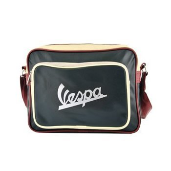 Vespa, Borsa a spalla donna Nero nero 35 cm length x 10 cm deep x 25 cm height